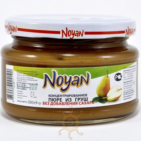 Пюре из груши без сахара Noyan, 300г