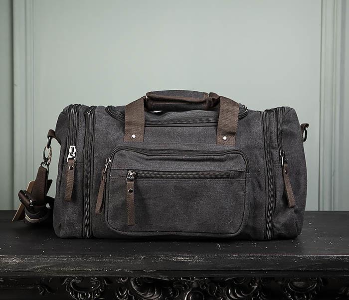 BAG477-1 Большая тканевая сумка с ремнем на плечо фото 02
