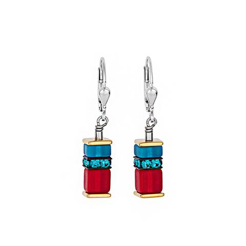 Серьги Coeur de Lion 4746/20-1500 цвет красный, голубой