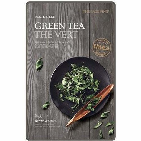 THE FACE SHOP Тканевая маска с экстрактом зеленого чая Real Nature Green Tea Face Mask