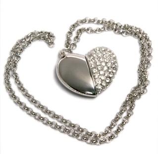 usb-флешка сердце ювелирное оптом