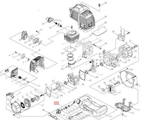 Бак топливный в сборе для мотора T3,5 Sea-PRO