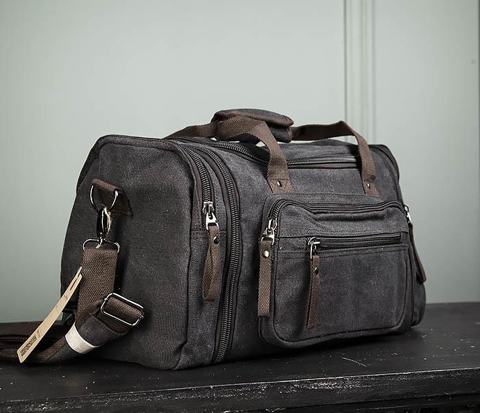 BAG477-1 Большая тканевая сумка с ремнем на плечо фото 03