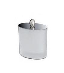 Емкость для косметики Windisch 88308MCR Oval Frozen crystal glass