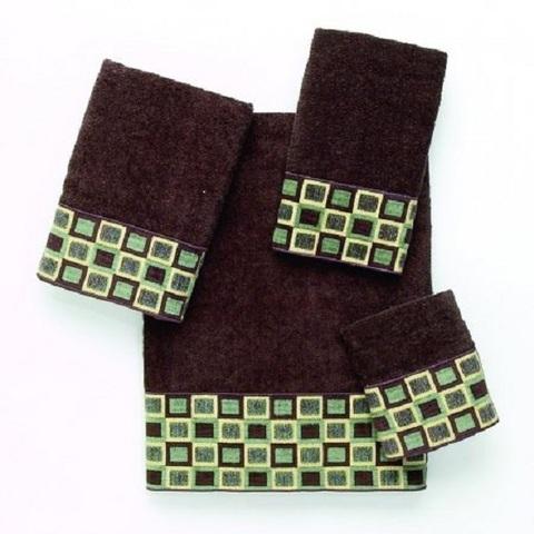 Полотенце 69х127 Avanti Blocks коричневое