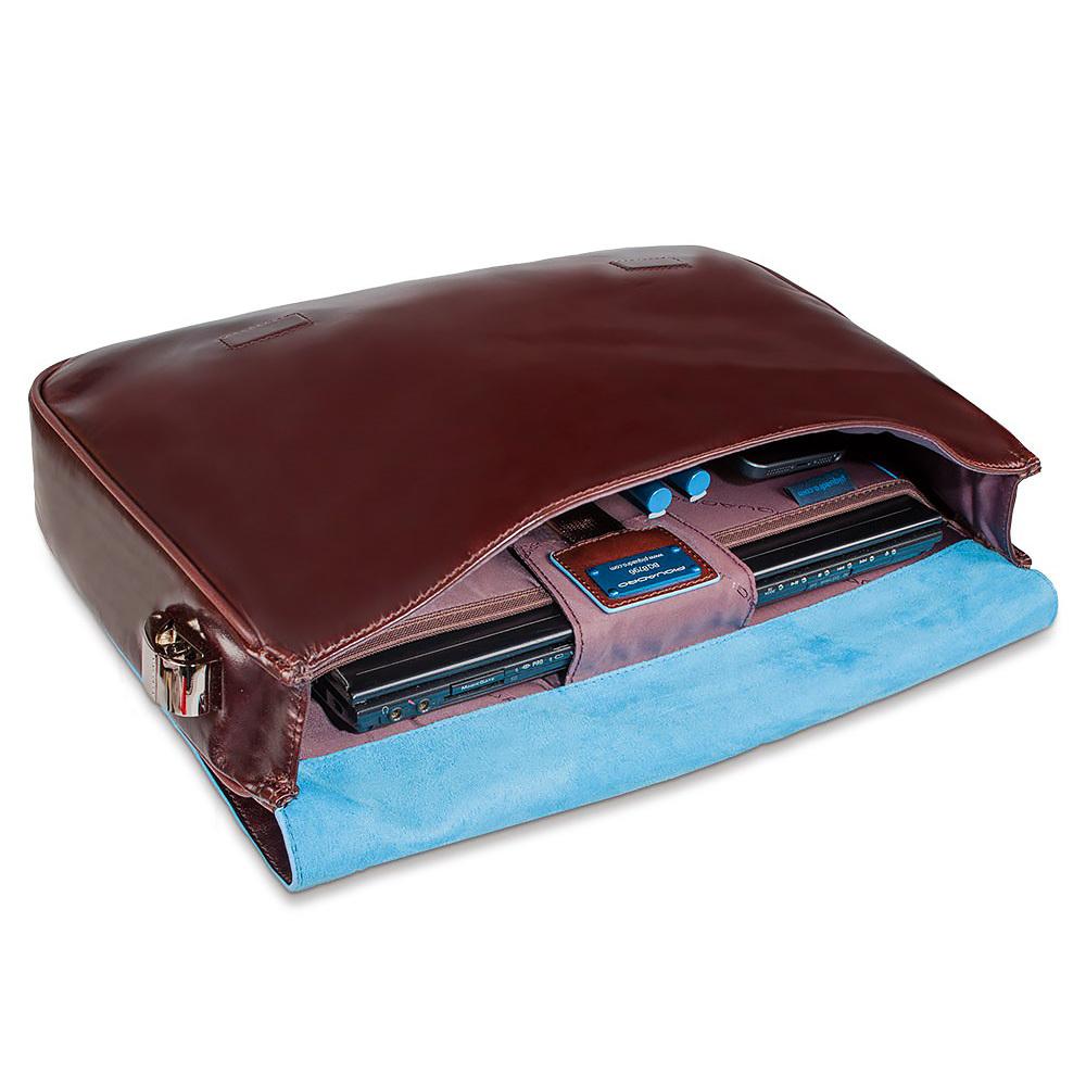 Сумка Piquadro Blue Square, цвет коричневый, 36,5x27x6,5 см (CA1403B2/MO)