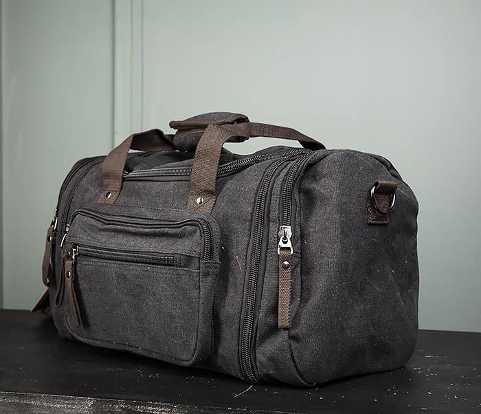 BAG477-1 Большая тканевая сумка с ремнем на плечо фото 04
