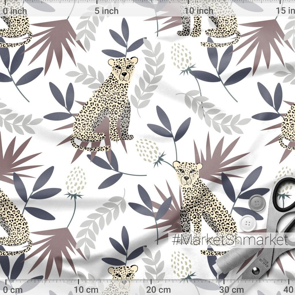 Леопарды на белом