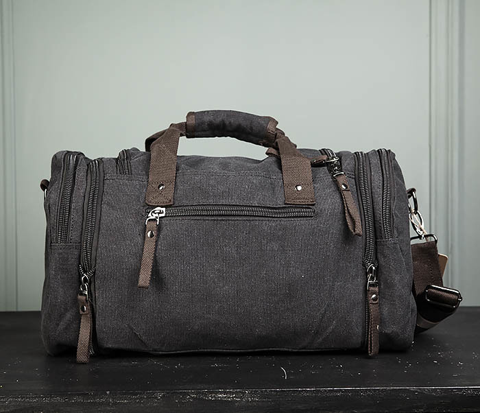 BAG477-1 Большая тканевая сумка с ремнем на плечо фото 05