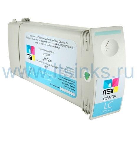 Картридж для HP 789 CH619A Light Cyan 775 мл
