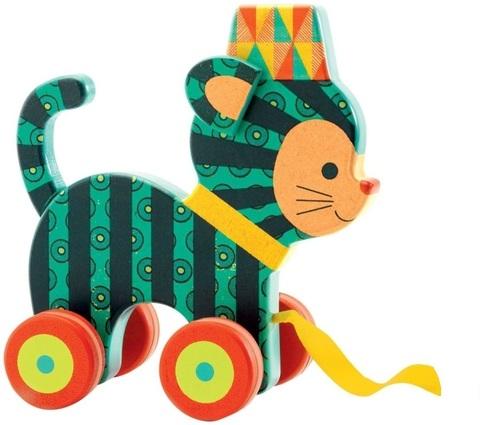 Каталка на веревочке «Кот Нэко»