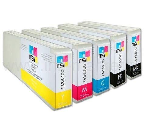 Комплект совместимых картриджей Optima для Epson Stylus Pro 7700/9700. Pigment 5x700 мл