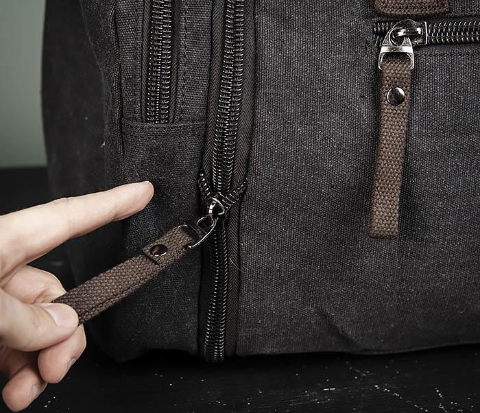 BAG477-1 Большая тканевая сумка с ремнем на плечо фото 06