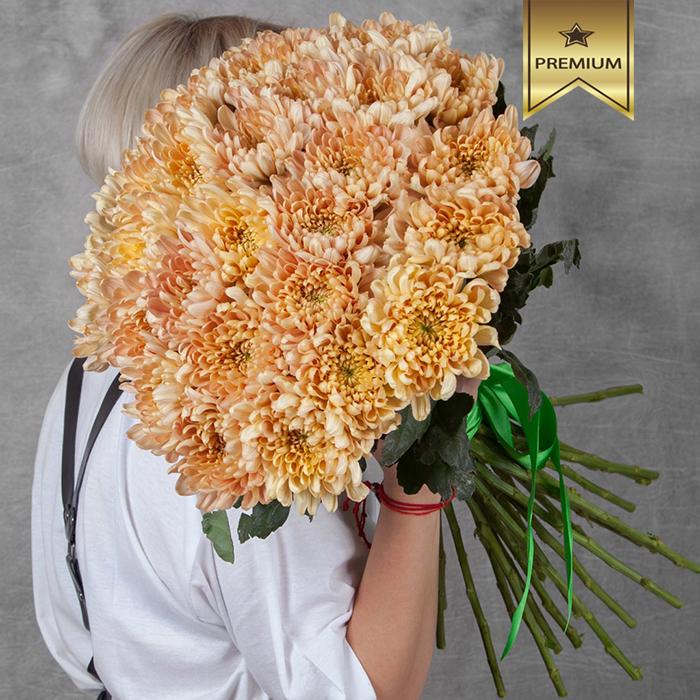 Купить хризантемы шар Аленка Салмон букет в Перми