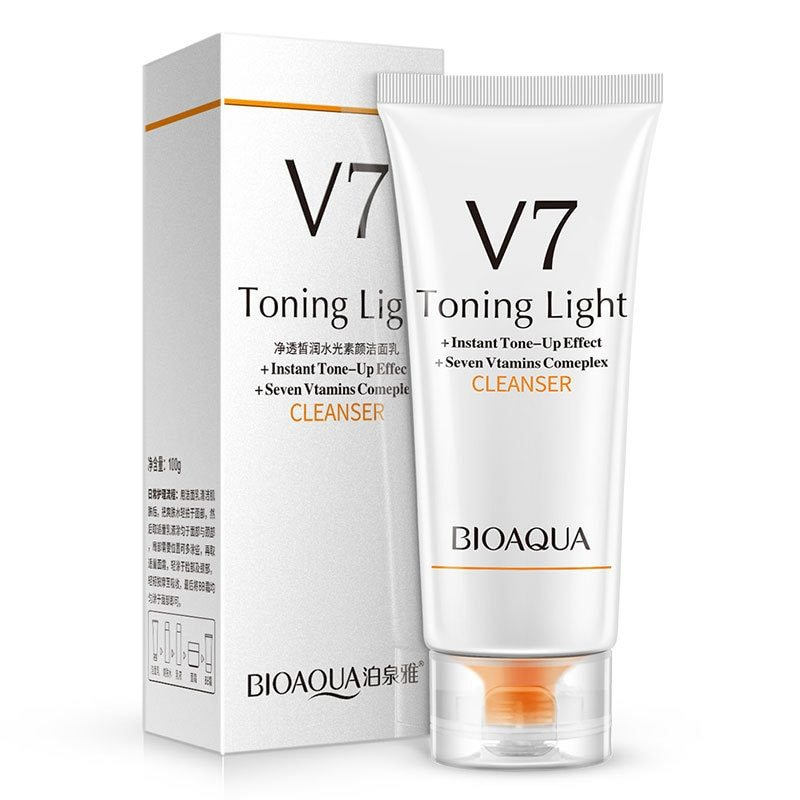 Bioaqua Пенка для умывания V7 Toning Light Cleanser, 100 г