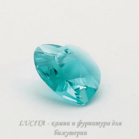 6202/6228 Подвеска Сваровски Сердечко Blue Zircon (10,3х10 мм)