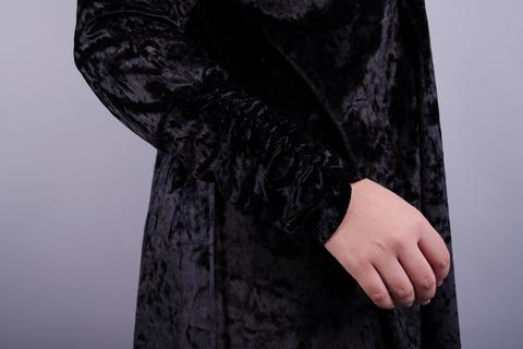 Самоцвіт. Елегантний кардиган для жінок плюс сайз. Чорний.
