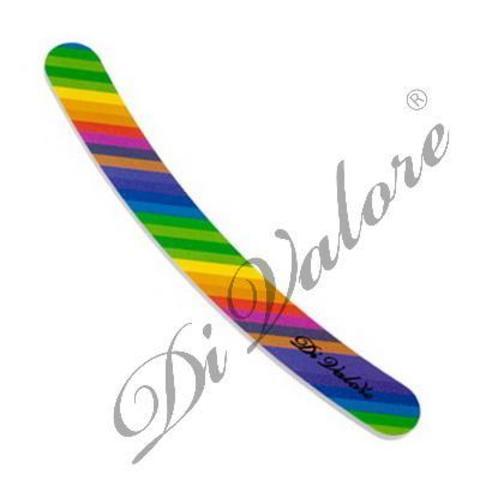 Di Valore Пилка для искусственных и натуральных ногтей Цветная бумеранг 108-011#7