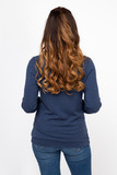 Блузка 01832 синий
