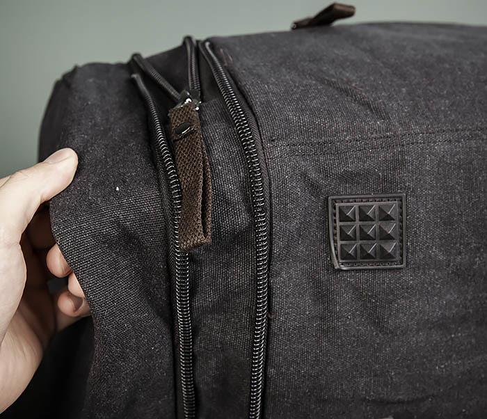 BAG477-1 Большая тканевая сумка с ремнем на плечо фото 09