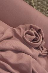 Cмягченный лён цвет ТЁМНО-КОРАЛЛОВЫЙ