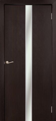 Дверь Дубрава Сибирь Айвенго, зеркало/молдинг серебро, цвет венге, остекленная
