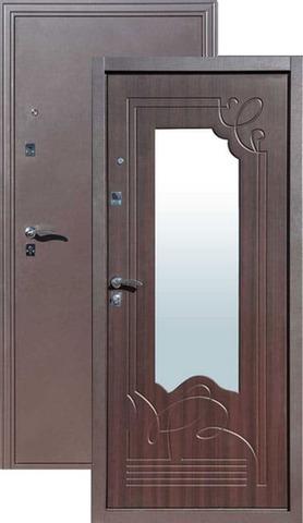 Дверь входная Цитадель Ампир венге, 2 замка, 1,5 мм  металл, (медь антик+венге)