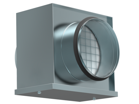 Воздушный фильтр-бокс Shuft FBCr 160 с фильтром для круглых воздуховодов
