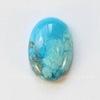 Кабошон овальный Говлит голубой (тониров), 14х10 мм