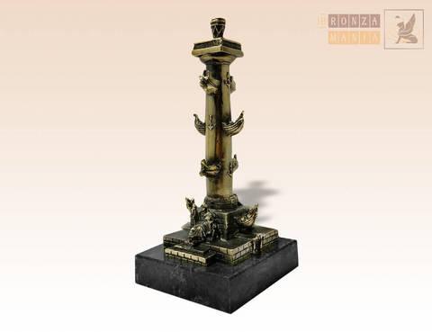 статуэтка Ростральная колонна на змеевике - Нева и Волхов