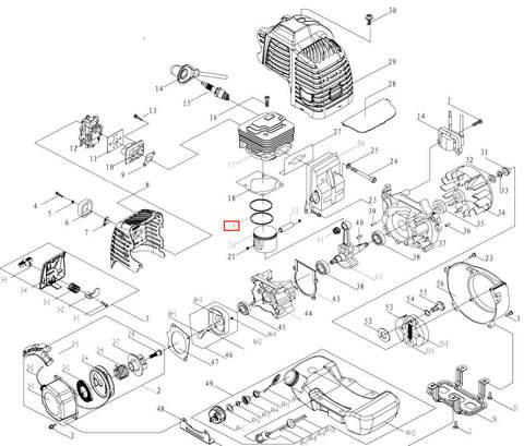 Кольцо поршневое для лодочного мотора T3,5 Sea-PRO