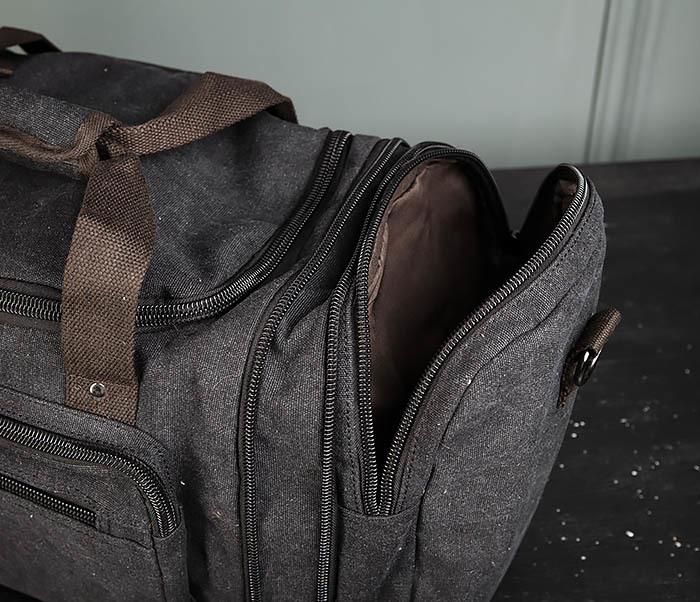 BAG477-1 Большая тканевая сумка с ремнем на плечо фото 11