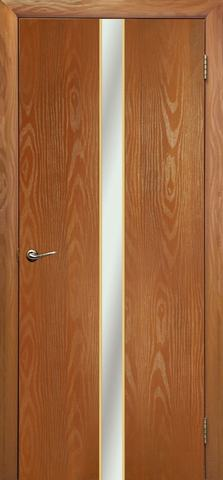 Дверь Дубрава Сибирь Айвенго, зеркало/молдинг золото, цвет миланский орех, остекленная