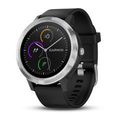 Смарт часы Garmin Vivoactive 3, серебристые с черным ремешком 010-01769-02
