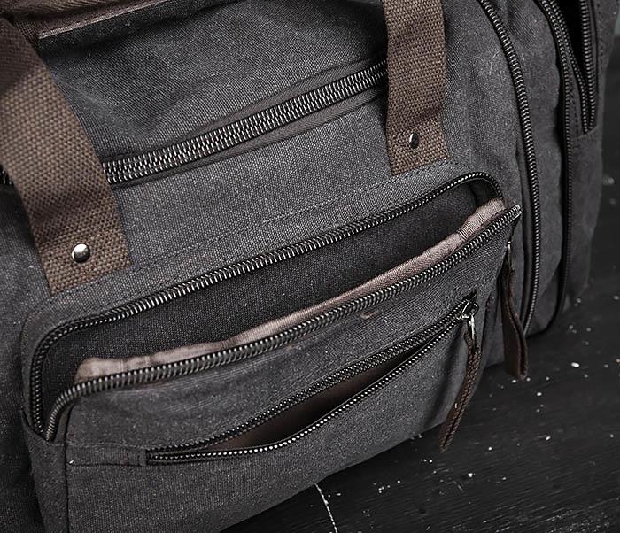 BAG477-1 Большая тканевая сумка с ремнем на плечо фото 12