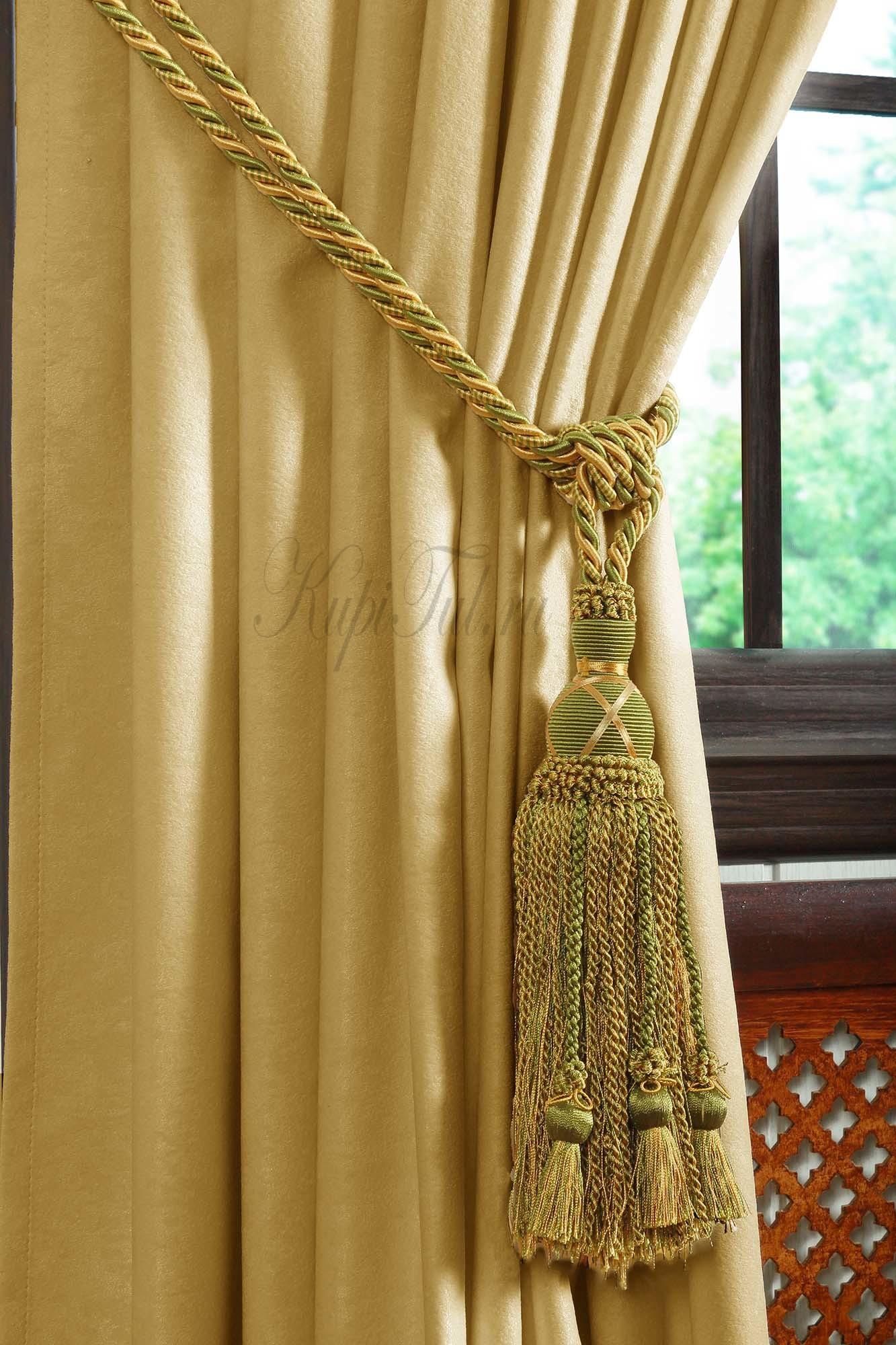 Mild (жёлтый). Готовые шторы.