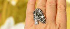 Дерево (кольцо из серебра)