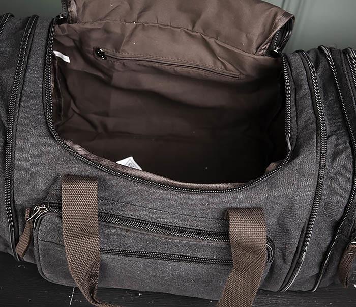 BAG477-1 Большая тканевая сумка с ремнем на плечо фото 13