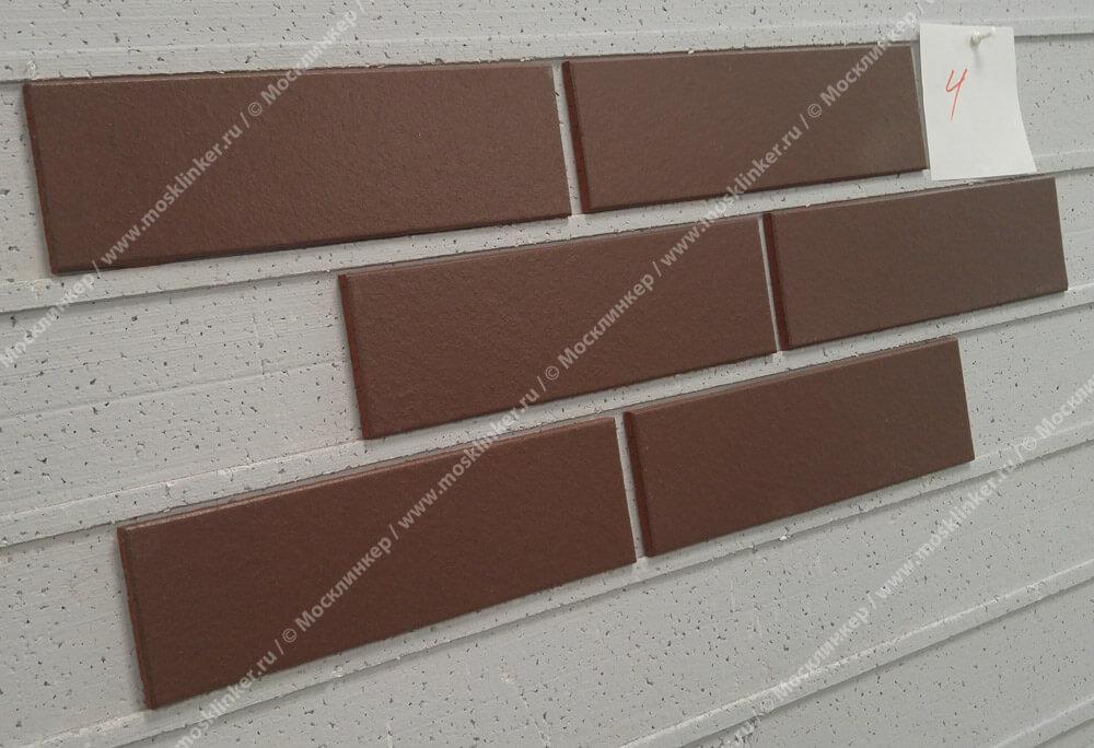 ABC - Alaska, Braun, glatt, 240х71х7, NF - Клинкерная плитка для фасада и внутренней отделки