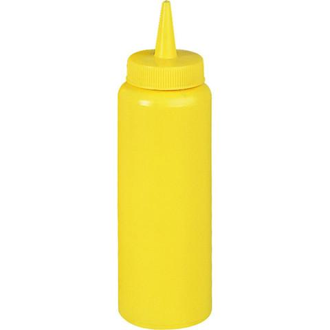 Диспенсер пластиковый для соусов и сиропов желтого цвета 350 мл