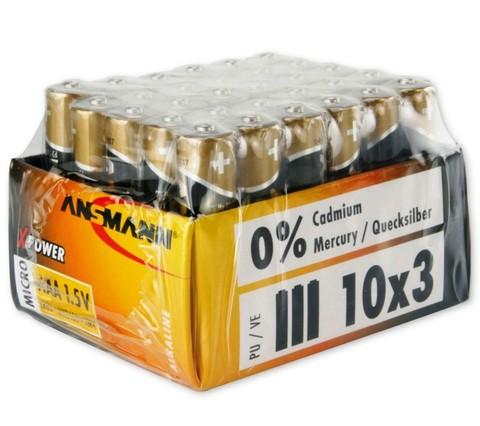 Батарейка ANSMANN X-Power AAA (1.5V) - 30 шт. в упаковке