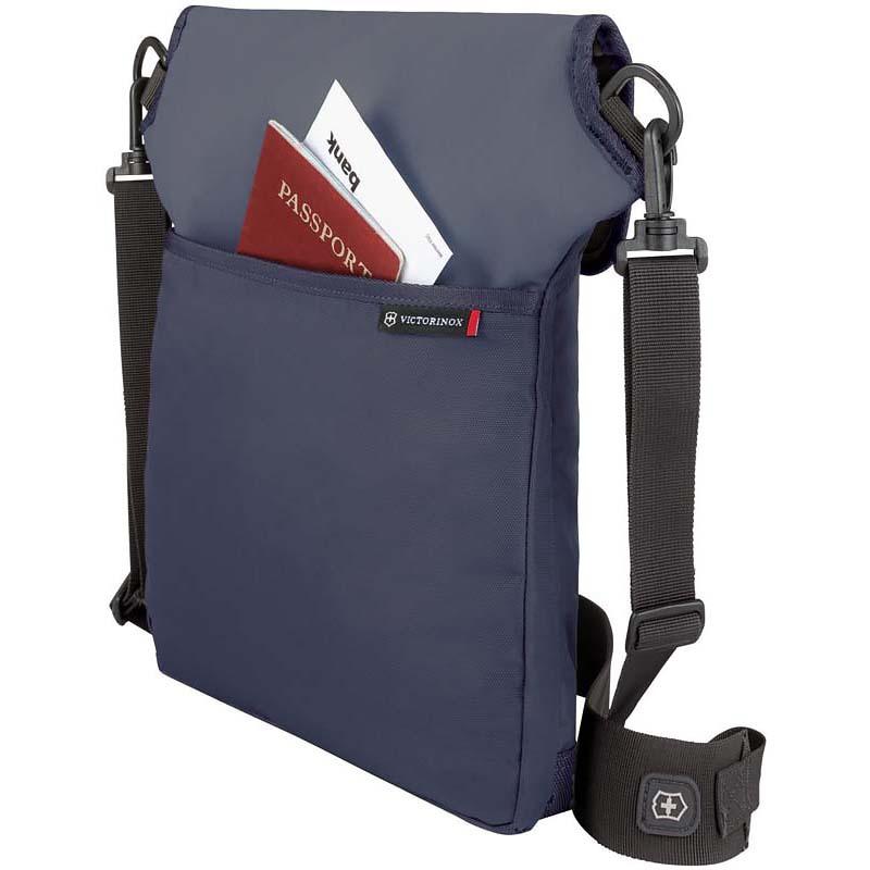 Сумка наплечная Victorinox Altmont 3.0 Flapover Bag, синяя, 27x6x32 см, 5 л