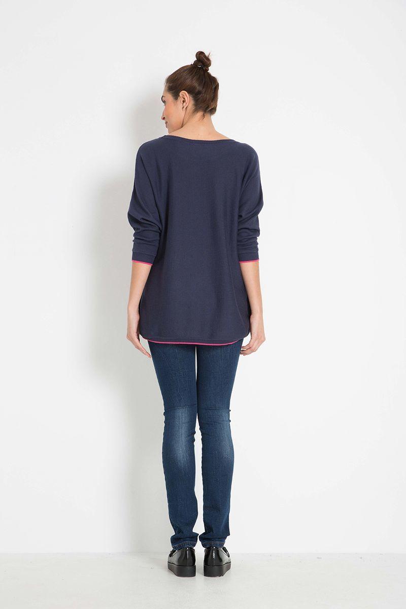 Блуза 07943 синий