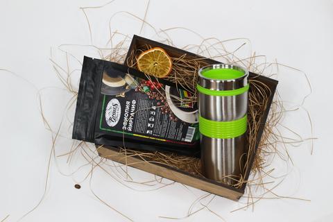 Набор кофе с термокружкой №2 вид сверху