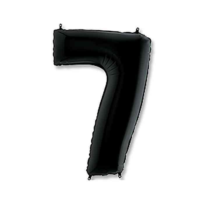 Шары цифры Шар цифра 7 Чёрная sl_2811221_0.jpg