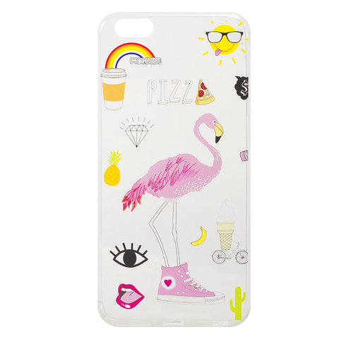 Чехол для IPhone 5/5S Pizza/Flamingo