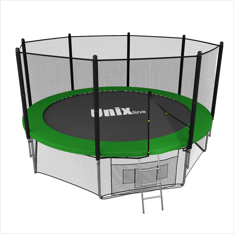 Батут UNIX line outside (Green), 12 ft
