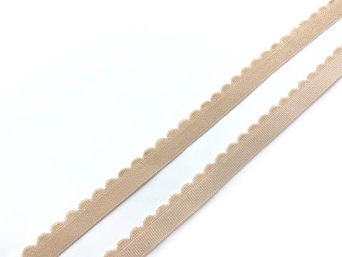 Резинка отделочная бежевая 12 мм Lauma