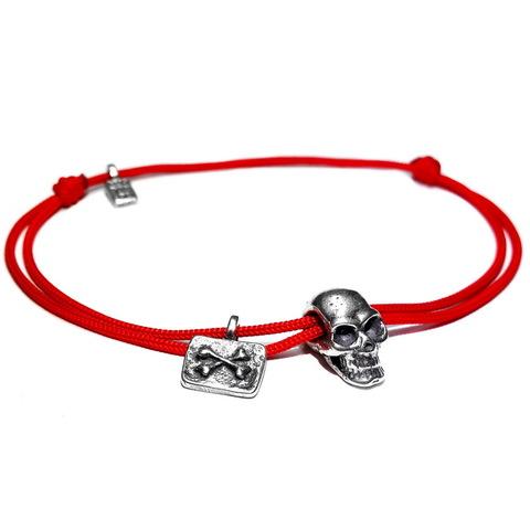 Skull bracelet, sterling silver