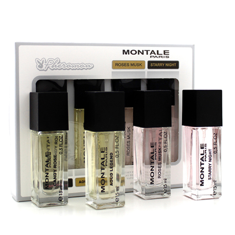 Набор мини-парфюма c феромонами Montale 4*15ml (у) (Candy Rose, Aoud Legend, Roses Musk, Starry Night)